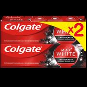 Colgate Dentifrice Max White Charcoal Colgate 2x75ml
