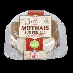 Le Mothais lait cru chèvre sur feuille SEVRE ET BELLE, 25% de MG, 150g