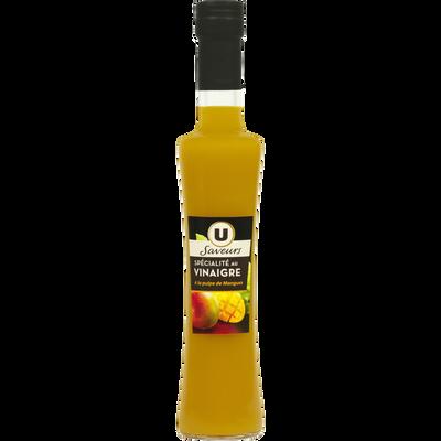 Préparation à base de vinaigre et de pulpe de mangue U SAVEURS, bouteille en verre de 20cl