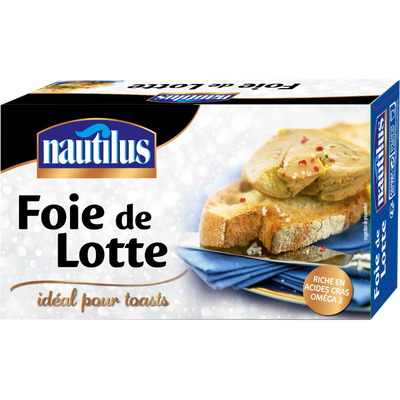 Foie de lotte NAUTILUS, boîte de 120g