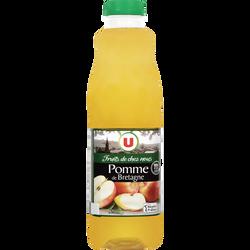 Pur jus de pomme de Bretagne 3fruits de chez nou3s U, bouteille de 1l
