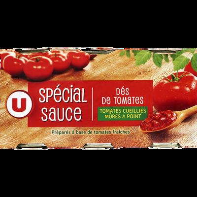 Pulpe de tomates en dés U, 3 boîte de 400g