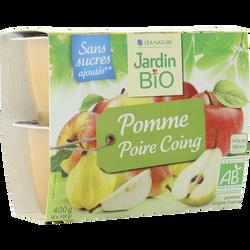 Dessert biofruit pommes/poires/coings bio JARDIN BIO 400g