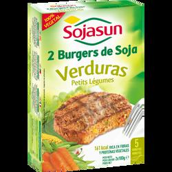 Burger de soja aux petits légumes SOJASUN, 2x100g