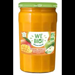 Purée pomme mangue sans sucre ajouté bio WE BIO, 630g