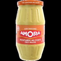 Moutarde mi-forte AMORA, bocal de 415g