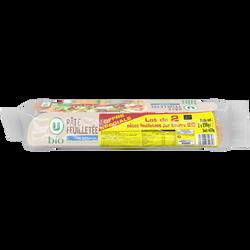 Pâtes feuilletées pur beurre bio U, 2x230g