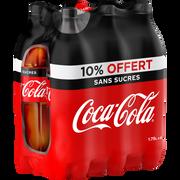 Coca Cola Zéro, Bouteille En Plastique 6x1,75 Litre