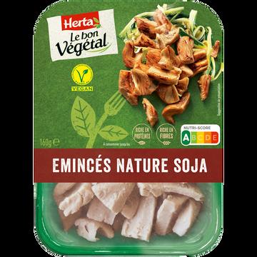 Herta Émincé Nature Soja Bon Végétal Herta, Barquette De 160g