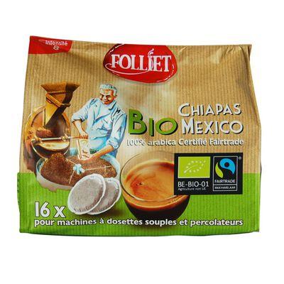 Dosettes souples café bio chiapas Mexico inte 8 FOLLIET, x16