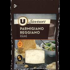 Parmigiano Reggiano Appelation d'Origine Protégée râpé lait cru U SAVEURS, 30% de MG, 60g