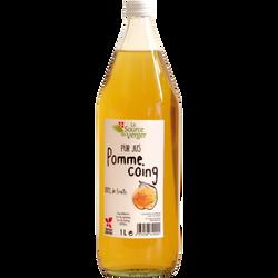 Jus pomme coing LA SOURCE DU VERGE, bouteille 1l