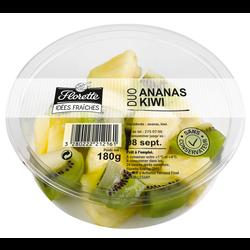 Duo ananas kiwi, FLORETTE, barquette, 180g