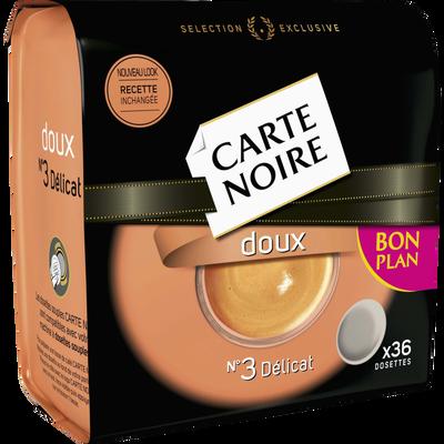 Café en dosettes doux CARTE NOIRE, 36 unités, 250g