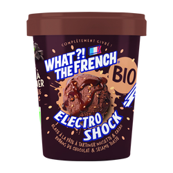 Glace electroshock noisette et cacao sauce chocolat noir bio WHAT THEFRENCH, x2, 126g