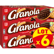 LU Biscuits Chocolat Noir Lu Granola , 6x195g