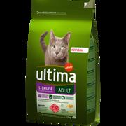Ultima Croquette Pour Chat Adulte Stérilisé Au Boeuf Ultima 1,5kg