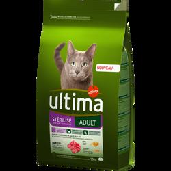 Croquette pour chat adulte stérilisé au boeuf ULTIMA 1,5kg