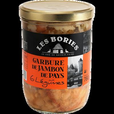 Garbure de jambon aux 6 légumes LES BORIES, 760g