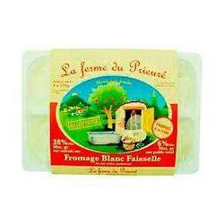 Fromage blanc LA FERME DU PRIEURE, 40%MG, 6x120g