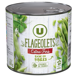 Flageolets verts extra-fins U, boîte 1/2, 265g