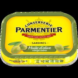 Sardines à l'huile d'olive vierge extra PARMENTIER, 135g