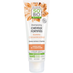 Shampooing cheveux fortifiés guarana et huiles essentielles SO BIO, 250 ml
