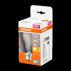 Ampoule led filament OSRAM ronde 40W culot B22 blanc chaud