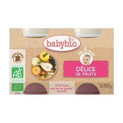Pot Délice de Fruits BABYBIO dès 6 mois 2x130g