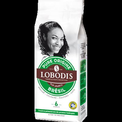 Café moulu pure origine Brésil LOBODIS, paquet de 250g