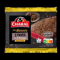 Pavé de boeuf aux 3 poivres, CHARAL, France, 2 pièces, 260g