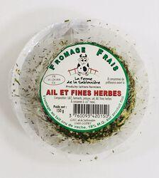 Fromage frais au lait cru de vaches, ail et fines herbes, FERME DE LA SABLONNIERE, 18%mg, 150g