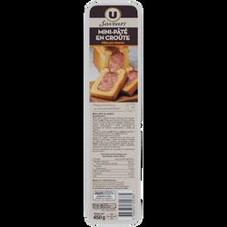 Mini paté en croûte pâte pur beurre Saveurs U, 450g