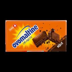 Tablette de chocolat noir crunchy OVOMALTINE, 100g