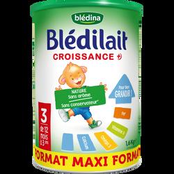 BLEDILAIT croissance, maxi format dès 12 mois à 3 ans, boîte de 1,6kg