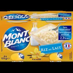 Riz au lait MONT BLANC, 4x125g