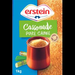 Cassonade pure canne non raffiné ERSTEIN, étui 1Kg