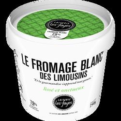 Fromage blanc des Limousins LAITERIE LES FAYES, 40% de MG, pot 750g