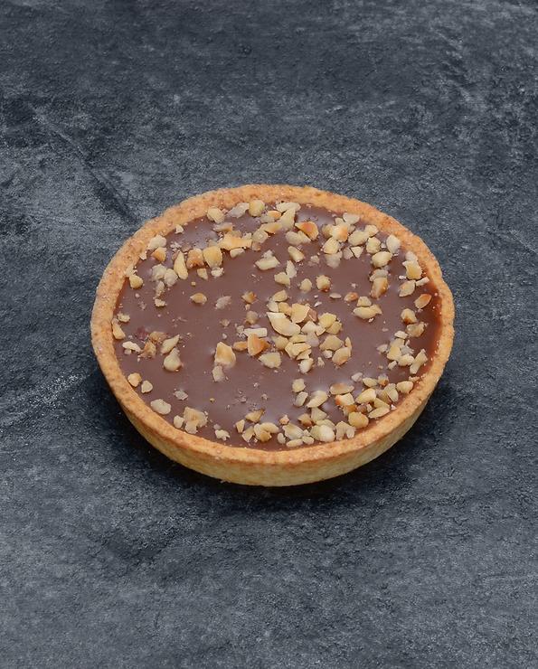 Tartelette caramel noisettes décongelé, 4 pièces, 280g