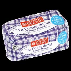 Beurre moulé pointe de sel 81% de matière grasse PAYSAN BRETON, 250g
