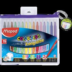 Feutre Color Peps MAPED, boîte de 15 unités, coloris assortis