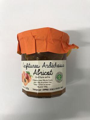 Confiture extra d'abricot 360g SOPREG