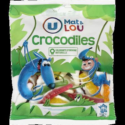 Gélifiés crocodile U MAT & LOU, sachet de 250g