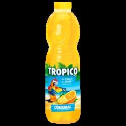 Boisson rafraichissante aux fruits aromatisé sans bulles avec une teneur en fruits de 13,4% TROPICO 1,5L