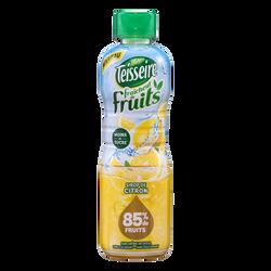 Sirop fraicheur de fruits citron TEISSEIRE, bouteille en plastique de60cl