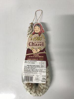 Saucisse sèche courbe de mamie Chazel 350g