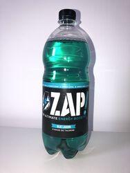 1L BLUE LAGOON ZAP ENERGY DRINK à base de taurine, caféine, baies sauvages