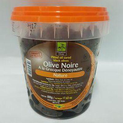 OLIVE NOIRE A LA GRECQUE DÉNOYAUTÉE NATURE 500G