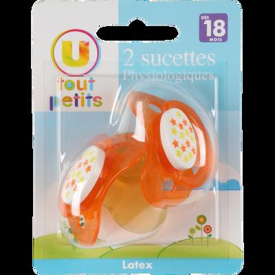 SUCETTE X2 LATEX BOUT PHYSIOLOGIQUE T3 (+18 MOIS) UTP