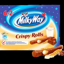 Biscuits crispy rolls MILKY WAY, paquet de 150g